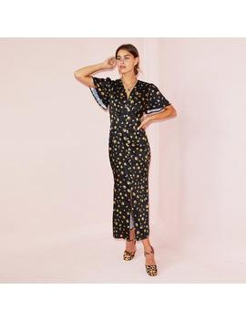 Black Lindos Stars & Moon Dress by Never Fully Dressed