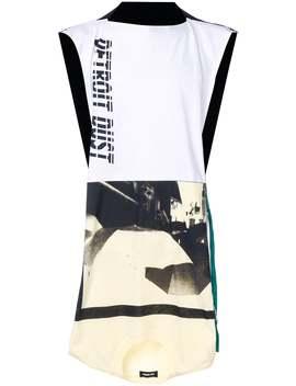 Raf Simons          Detroit Dust Print Sleeveless Tee Shirt by Raf Simons