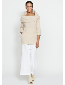 Calyer Cowl Neck Sweater (Natural Blush) by Dudley Stephens