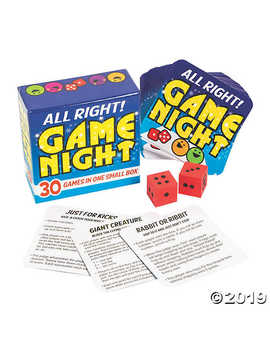 Game Night In A Box by Oriental Trading