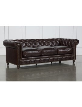 Churchill Leather Sofa by Living Spaces