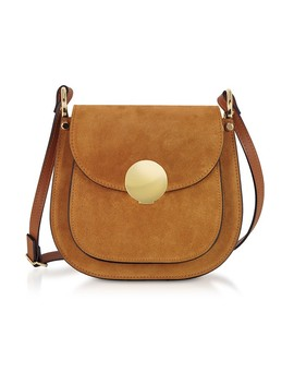 Agave Suede And Smooth Leather Shoulder Bag by Le Parmentier