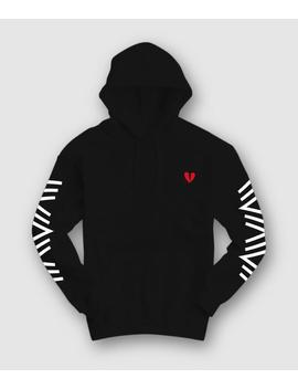 Geo Broken Heart Embroidered Mens Hoodie by Riot Society Clothing