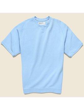 Crew Fleece Sweatshirt   Sky Blue by Universal Works
