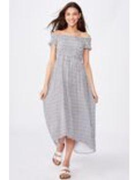 Lennie Off Shoulder Shirred Dress by Supre