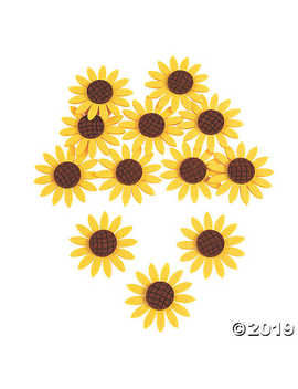 Felt Sunflower Embellishments by Oriental Trading