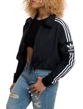 Cropped Track Jacket In Black Black by Adidas