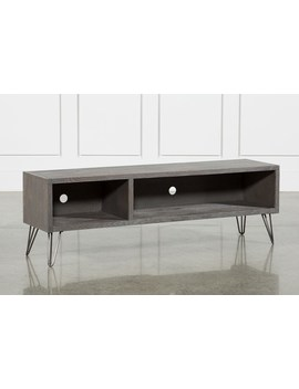 Melrose Titanium 65 Inch Lowboy Tv Stand by Living Spaces