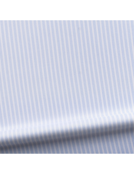 Business Dress Shirt In Luxurious White And Blue Herringbone by Tailor Store
