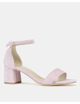 Utopia Mid Block Heel Sandals Lilac by Utopia