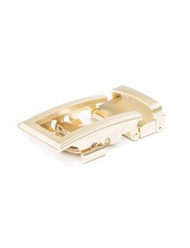 "1.5"" Traditional Buckle In Gold by Anson Belt & Buckle"