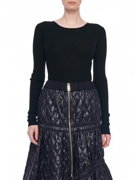 Feather Weight Ribbed Crewneck by Tibi