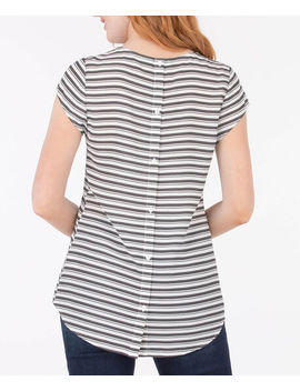 Button Back Tulip Sleeve Blouse by Ricki's