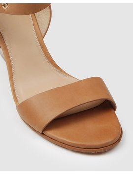 Vita High Heel Wedges Chocolate Leather by Jo Mercer