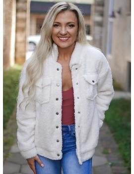 Sherpa Jacket   Ivory by Rosie Daze