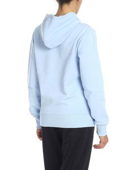 Sweatshirt In Light Blue With Helmut Lang Logo by Helmut Lang