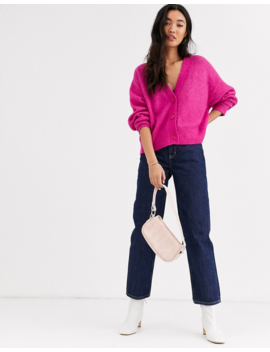 &-other-stories-–-oversize-strickjacke-aus-alpaka-wollmix-in-rosa by asos