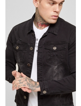 Denim Jacket Black by Good For Nothing Mens