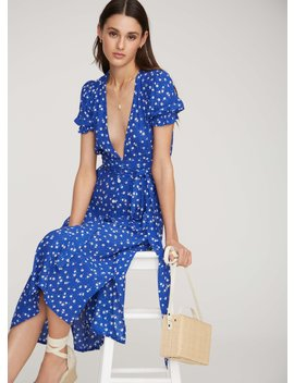 Betina Floral Print   Cobalt   Farah Dress by Faithfull The Brand