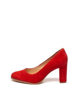 Pantofi De Piele Intoarsa Cu Toc Masiv Kaylin Cara by Clarks