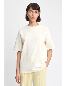 Long Crew Neck T Shirt by Filippa K