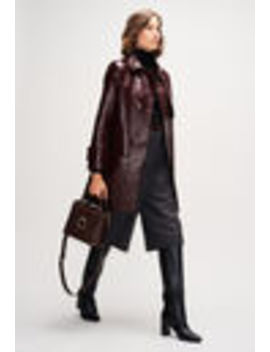 Patent Leather Trench Coat by Claudie Pierlot