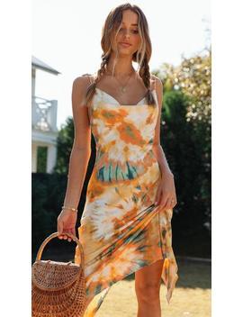 Heartbreaker Midi Dress (Orange) by Mura Boutique