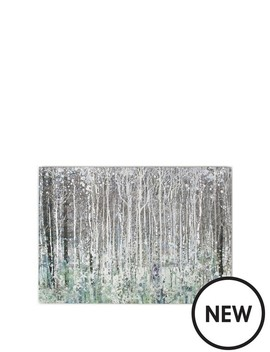 Watercolour Woods Canvas With Metallic by Graham & Brown