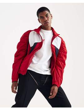 Panelled Ruched Track Jacket   Red by Martine Rose