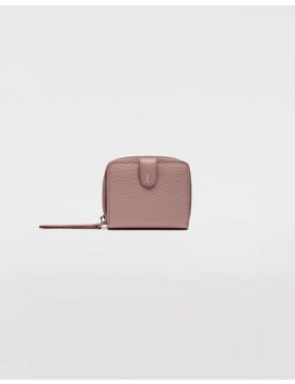 Leather Zip Around Wallet by Maison Margiela