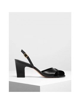 Asymmetrical Peep Toe Heels by Charles & Keith