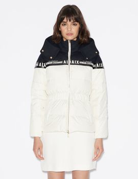 Down Jacket With Hood by Armani Exchange
