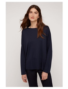 Leigton Top In Navy by People Tree