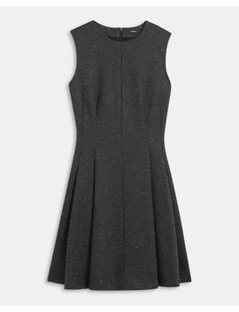 Melange Ponte Sleeveless Seamed Dress by Theory