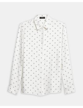 Silk Dot Straight Shirt by Theory