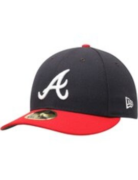 Atlanta Braves New Era Home Authentic Collection On Field Low Profile 59 Fifty Fitted Hat   Navy/Red by New Era