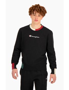 Sweatshirt à Bords Colour Block Et Logo by Champion