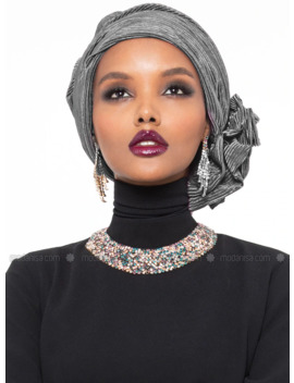Leda Turban   Gray by Modanisa