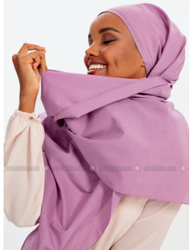 Aden Cotton Shawl   Lilac by Modanisa