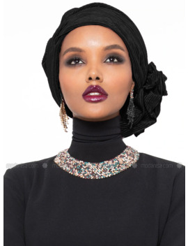 Leda Turban   Black by Modanisa