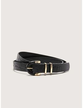Genuine Leather Belt With Metallic Buckle   Addition Elle by Penningtons