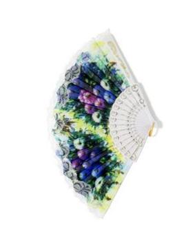 Multi Color Floral Folding Fan by Miss A