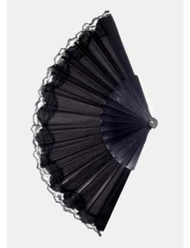 Solid Color Lace Trim Folding Fan by Miss A