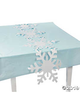 Snowflake Table Runner by Oriental Trading