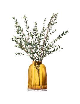 Lsa Pleat Vase   20cm   Amber by Lsa International
