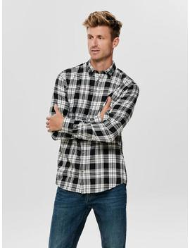 Long Sleeve Checkered Shirt by Only & Sons