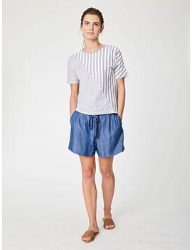 Savita Stripe Boxy T Shirt by Thought