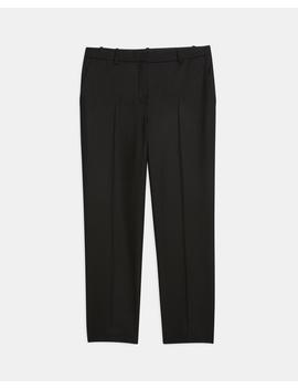 Sleek Flannel Cropped Tailored Trouser by Theory