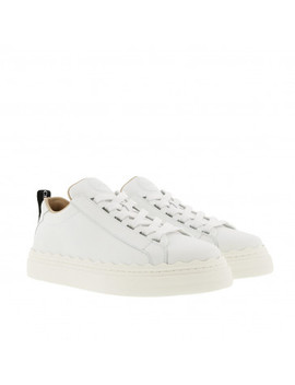 Lauren Sneaker Smooth Calfskin White by Chloé