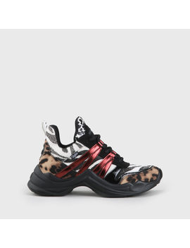 Cavi Sneaker Faux Leather Animal Prints by Buffalo